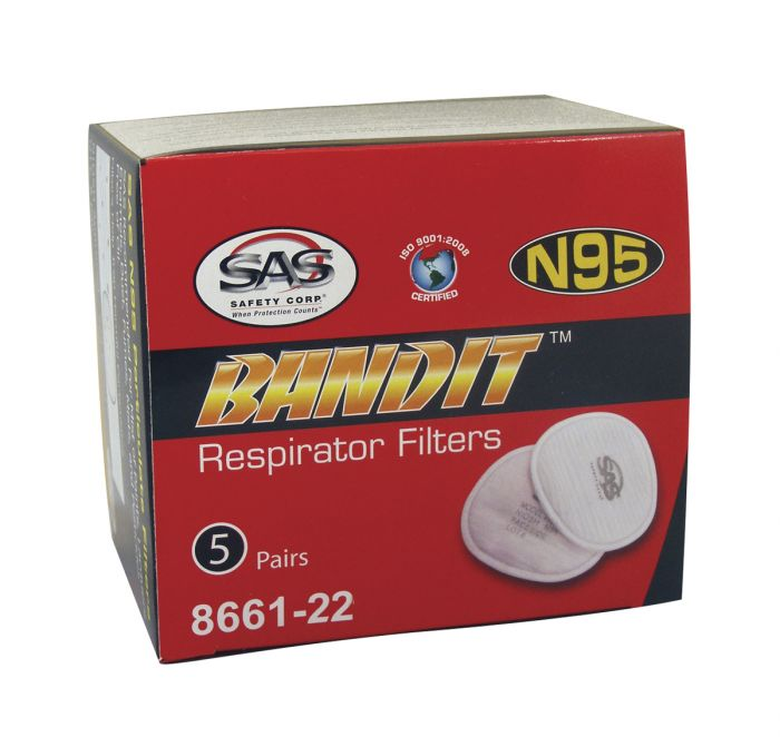 N95 Pre-Filter For SAS Bandit Respirator (Box Of 5)