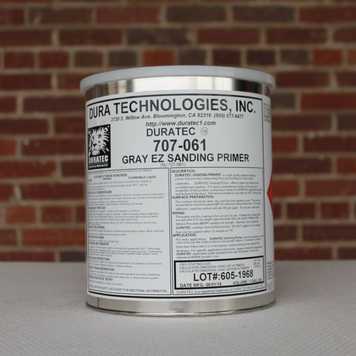 Duratec Polyester EZ Sanding Primer , 1 Gallon (Light Grey)